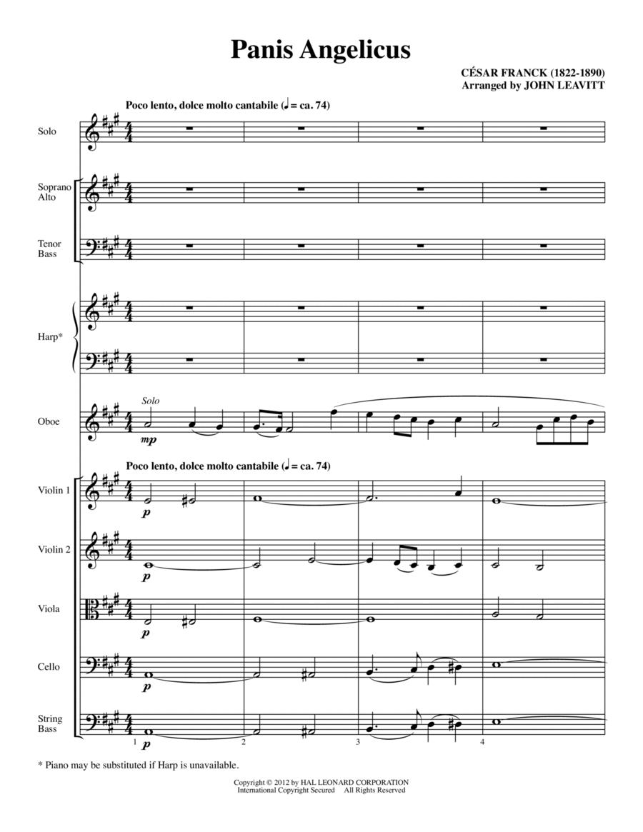 Panis Angelicus - Full Score