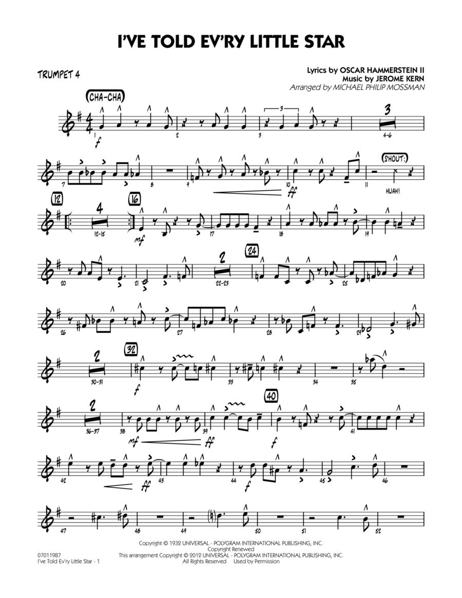 I've Told Ev'ry Little Star - Trumpet 4