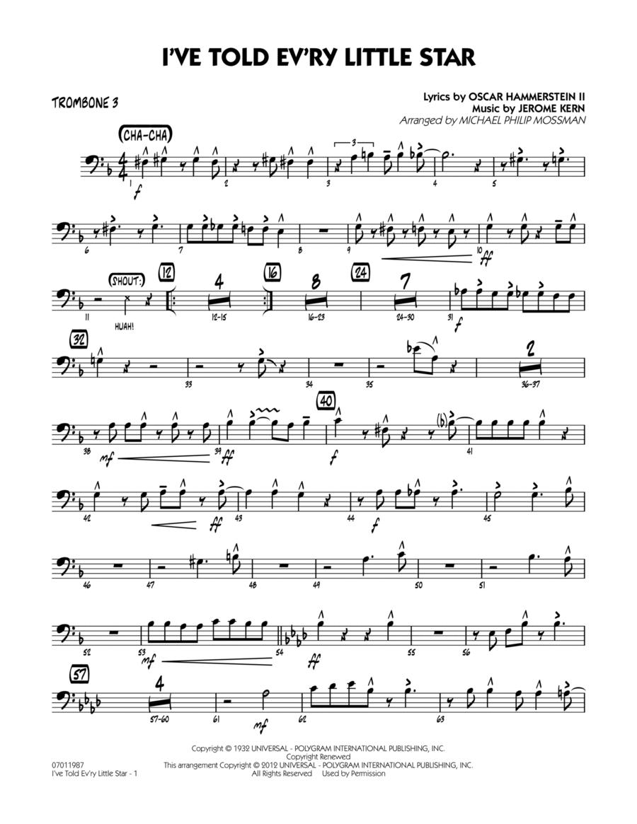 I've Told Ev'ry Little Star - Trombone 3