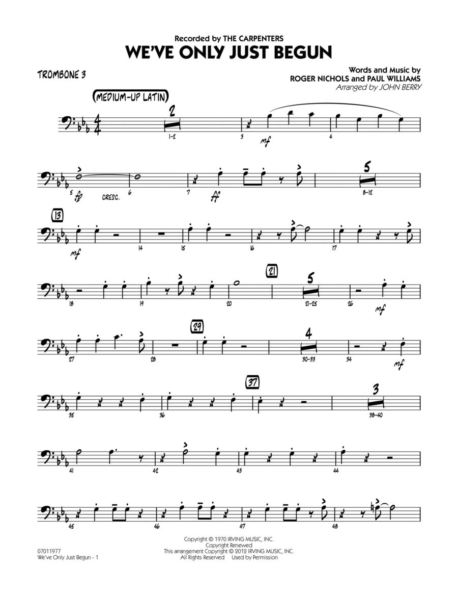 We've Only Just Begun - Trombone 3