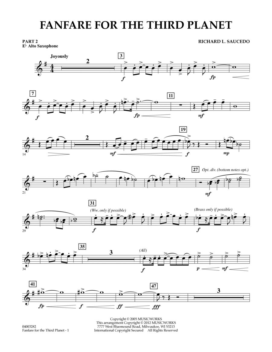 Fanfare For The Third Planet - Pt.2 - Eb Alto Saxophone