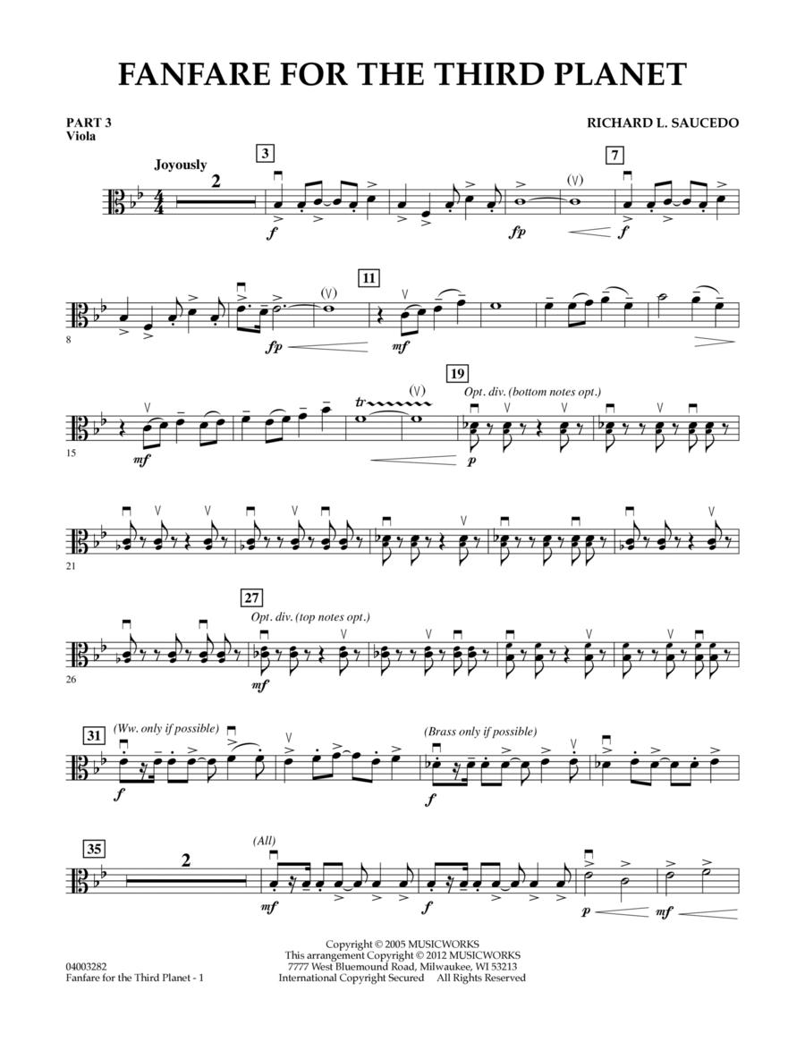 Fanfare For The Third Planet - Pt.3 - Viola