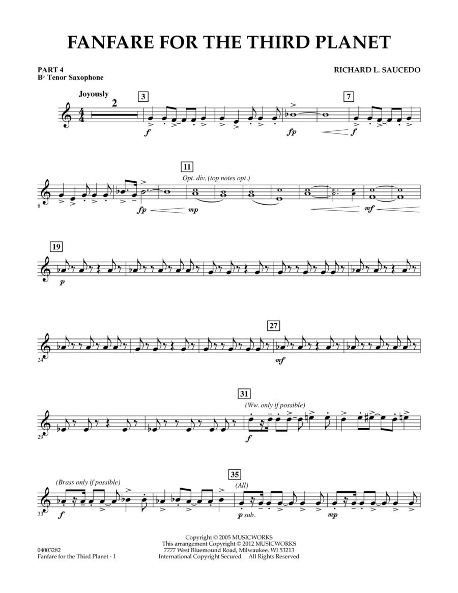 Fanfare For The Third Planet - Pt.4 - Bb Tenor Sax/Bar. T.C.