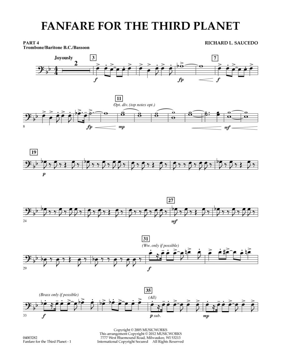 Fanfare For The Third Planet - Pt.4 - Trombone/Bar. B.C./Bsn.