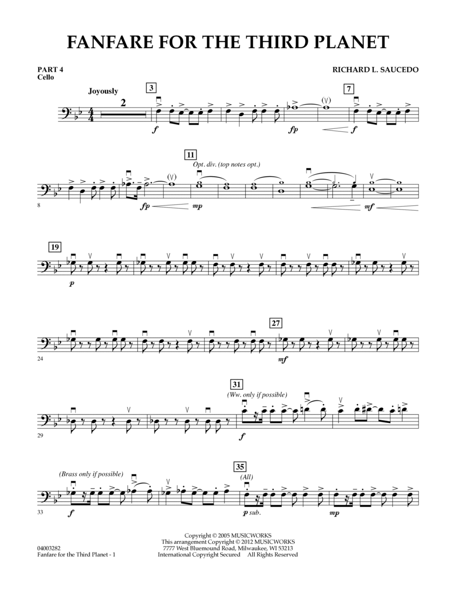 Fanfare For The Third Planet - Pt.4 - Cello