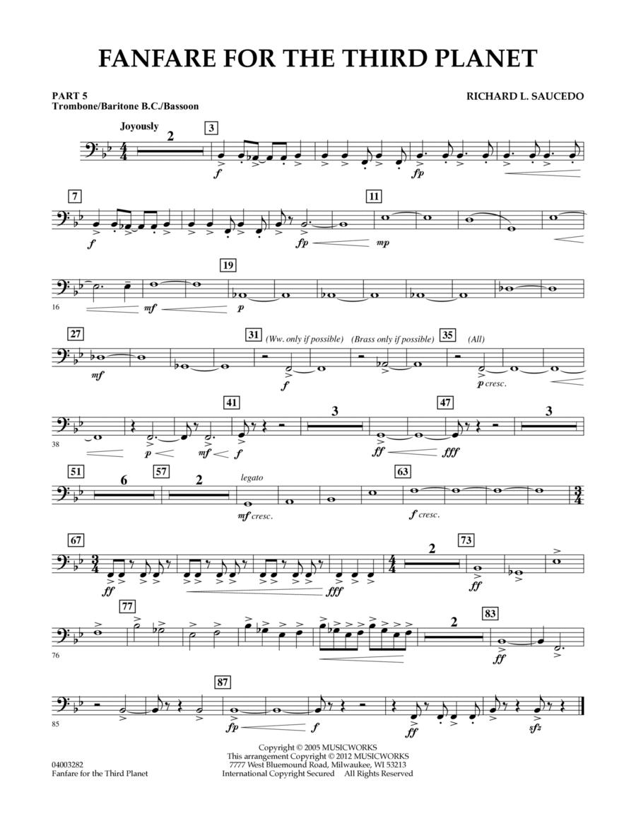 Fanfare For The Third Planet - Pt.5 - Trombone/Bar. B.C./Bsn.