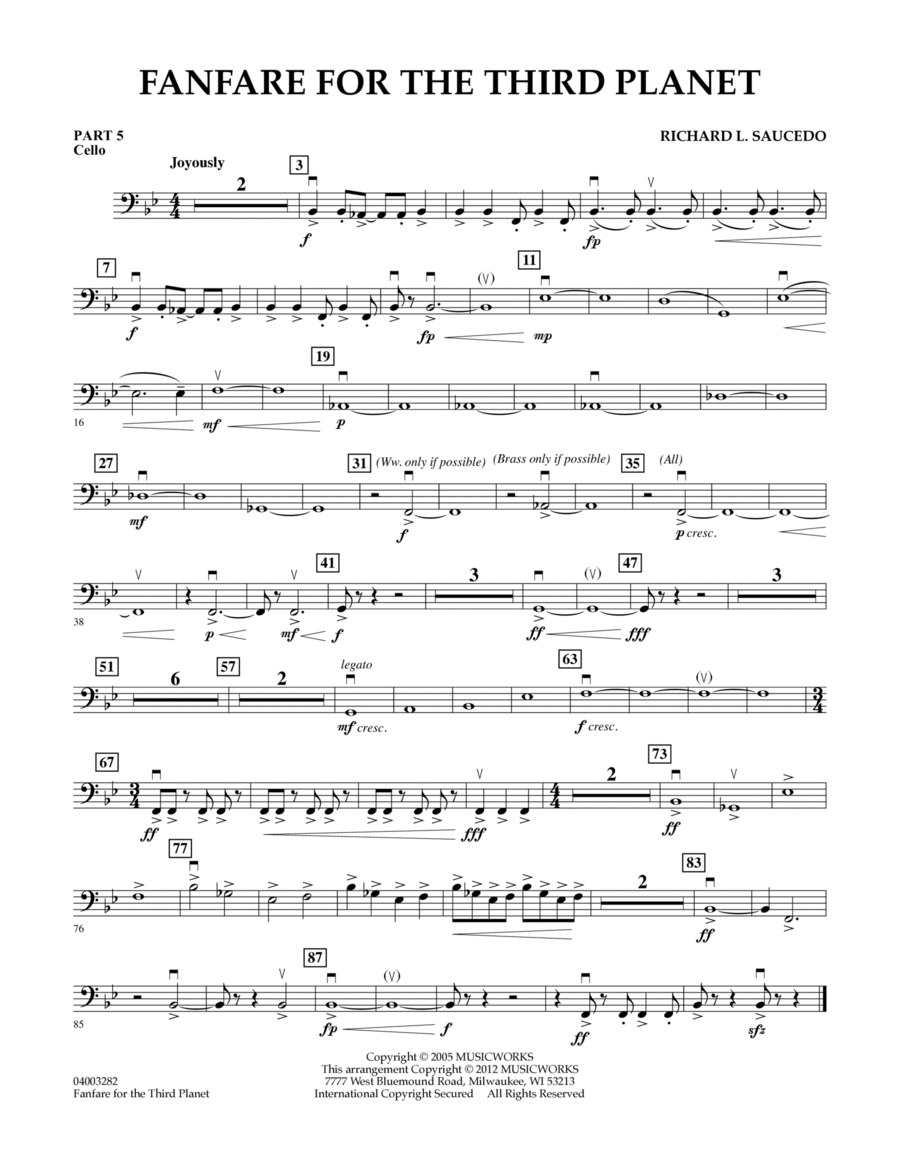 Fanfare For The Third Planet - Pt.5 - Cello