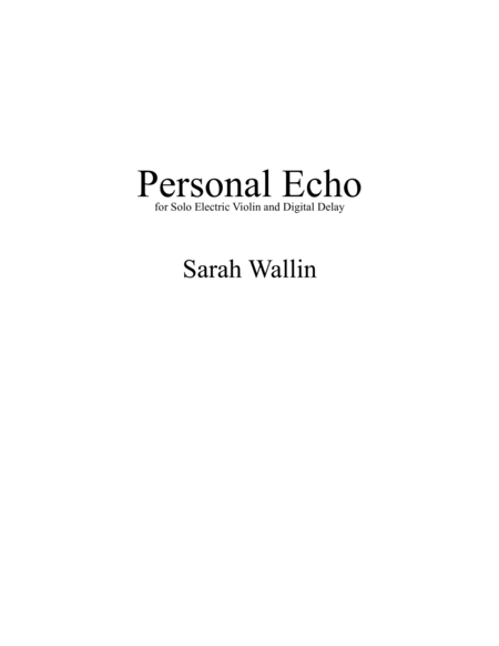 Personal Echo