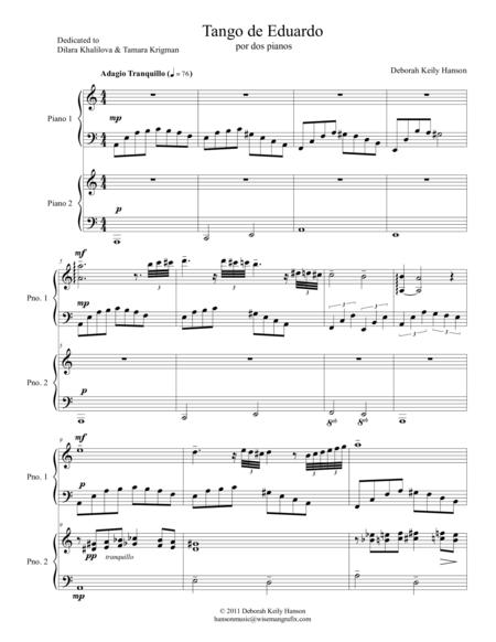 Tango de Eduardo por dos pianos