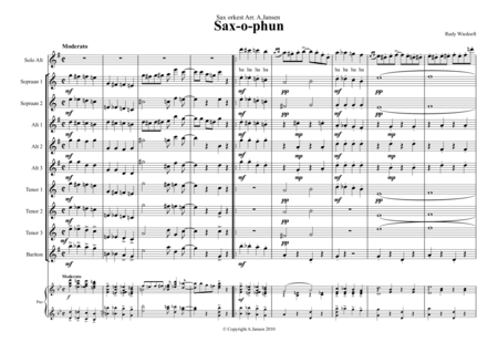 saxophun altoSax and saxorchestra Score