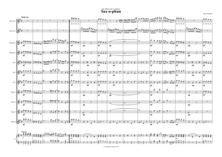 saxophun- two alto saxoph and sax orchestra Score