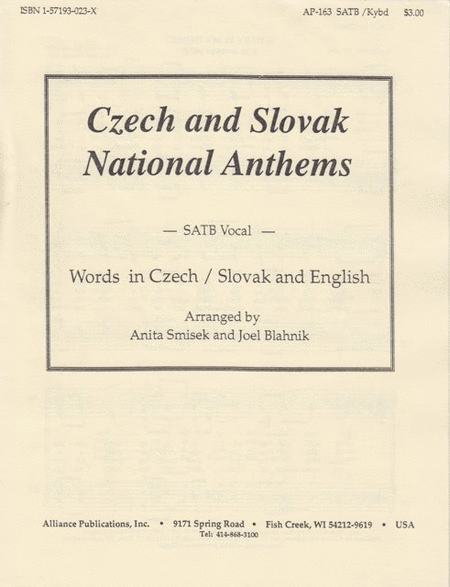 Czech and Slovak National Anthems