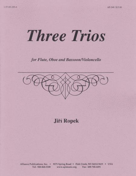 Three Trios for Flute, Oboe, Violoncello
