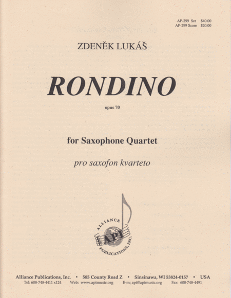 Rondino (Rondo) for Sax Quartet