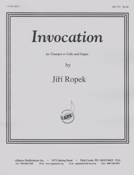 Invocation for Trumpet or Cello and Organ