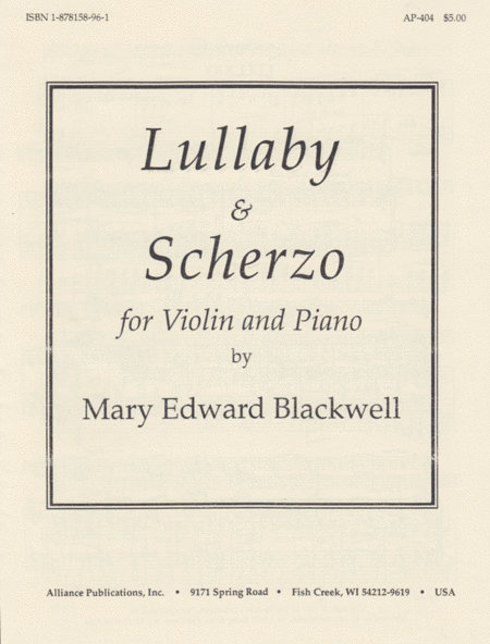 Lullaby and Scherzo
