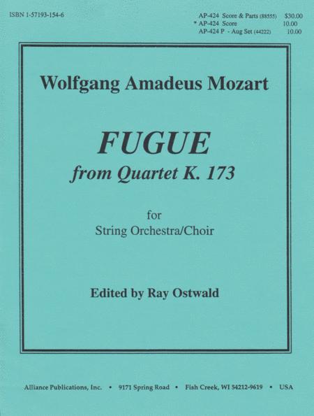 Fugue From Quartet K. 173