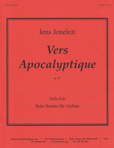 Vers Apocalyptique, Op. 87