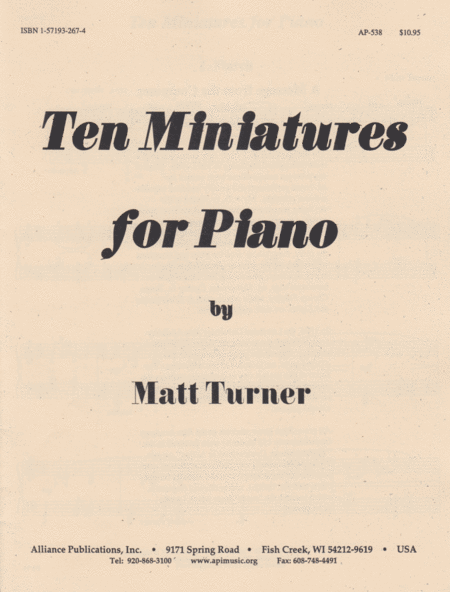 Ten Miniatures for Piano