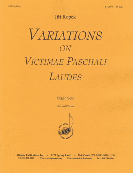 Variations on Victimae Paschali Laudes, Rev. Ed