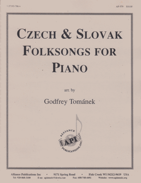 Czech and Slovak Folksongs for Piano