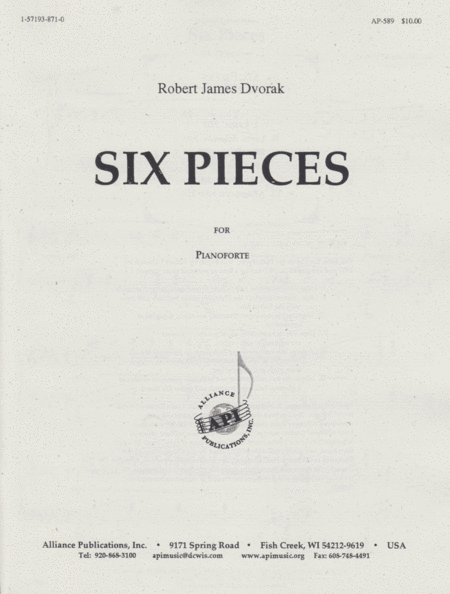 Six Pieces for Pianoforte