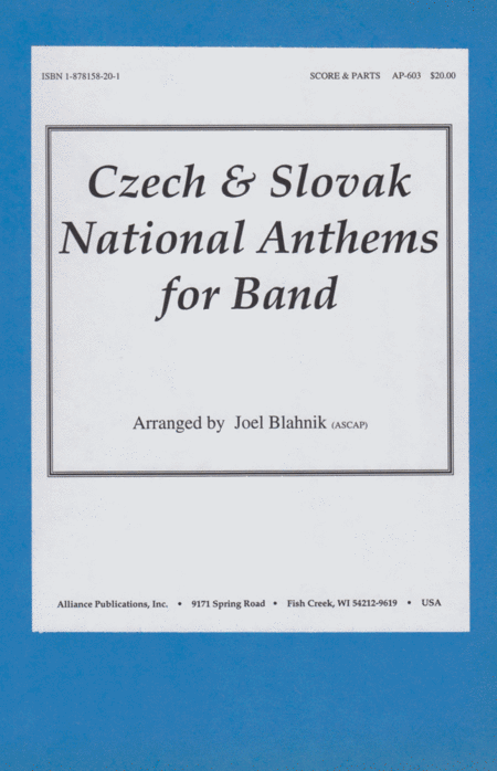Czech and Slovak National Anthems for Band