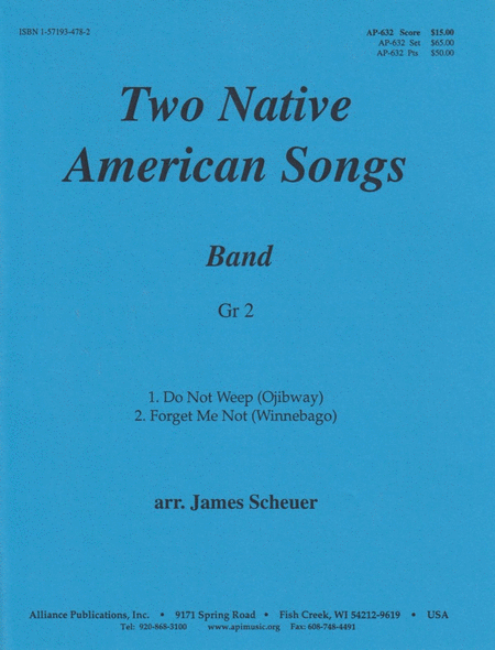 Two Native American Songs for Band