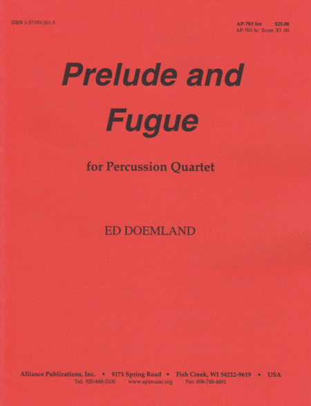 Prelude and Fugue for Percussion Quartet