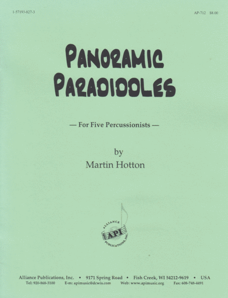Panoramic Paradiddles for 5 Percussionists