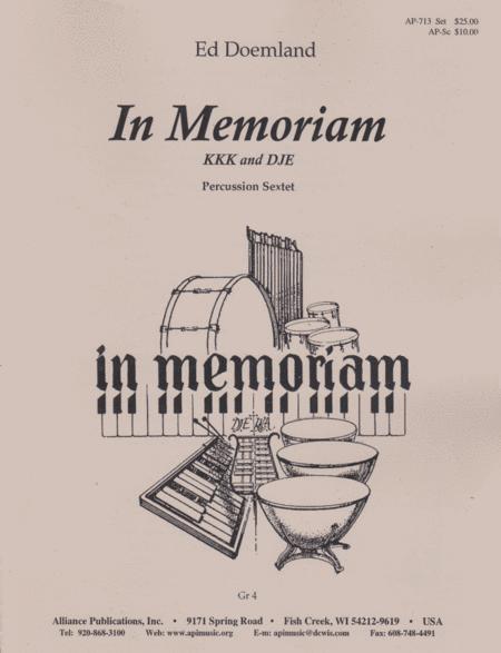 In Memoriam: Percussion Sextet