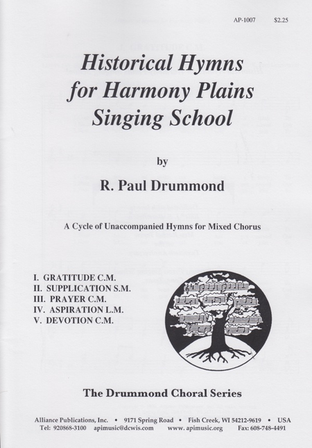 Historical Hymns for Harmony Plain Song School
