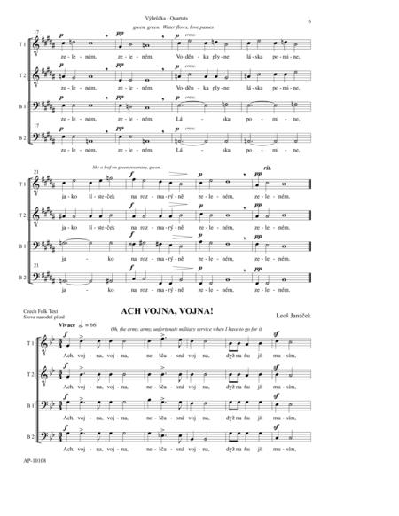 Vy Hruzka (4 TTBB Songs)