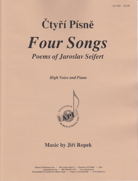 Four Songs: Poems of Jaroslav Seifert