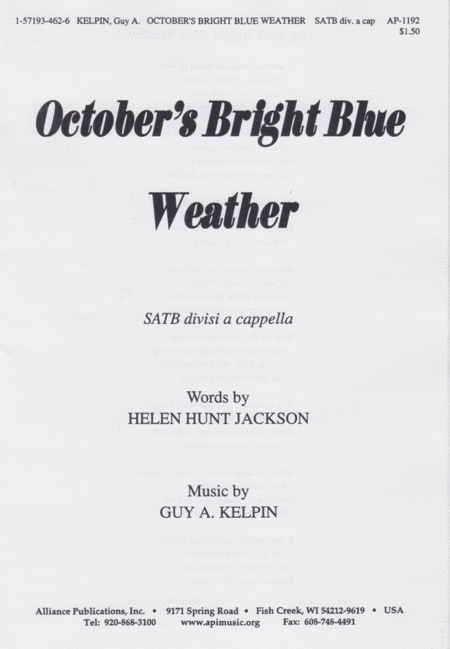 October's Bright Blue Weather