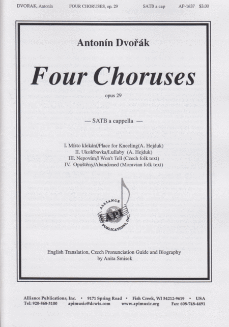 Four Choruses, Op. 29