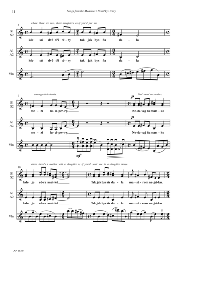Five Folksongs/Pisnicky Z Travy