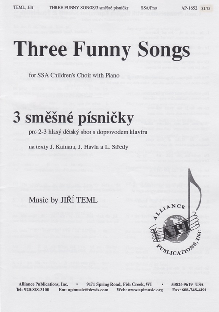 Three Funny Songs for Ssa
