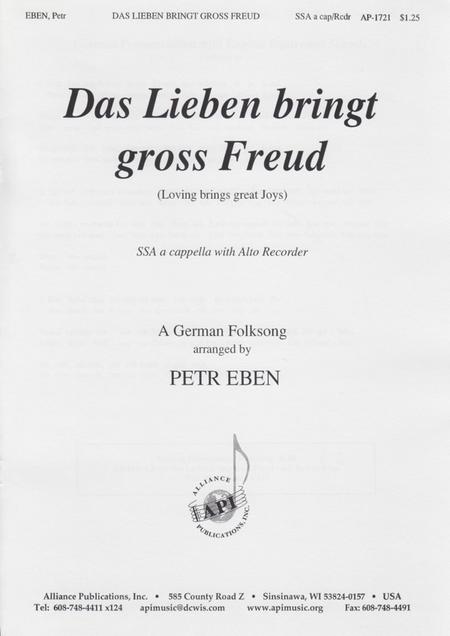 Das Lieben Bringt Gross Freud