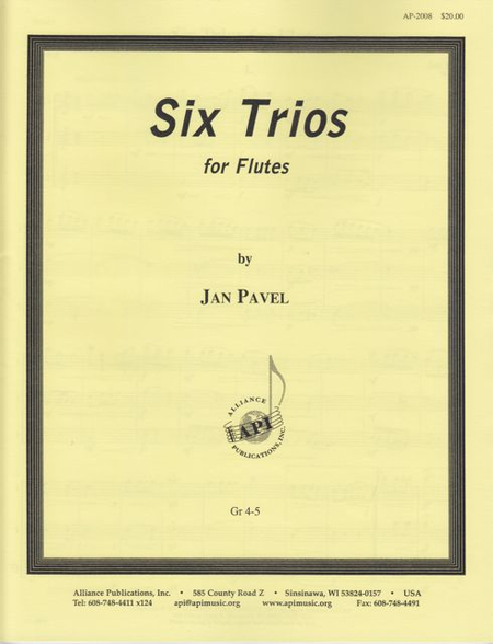 Six Trios for 3 Flutes