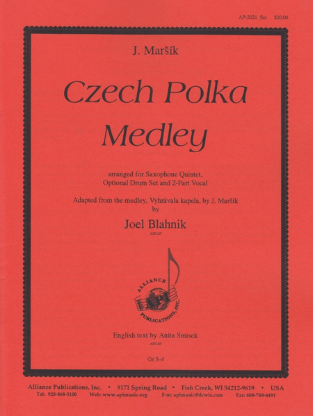 Czech Polka Medley for Sax Quintet