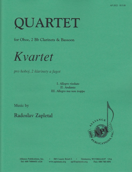 Quartet for Oboe, 2 Clarinets, Bassoon