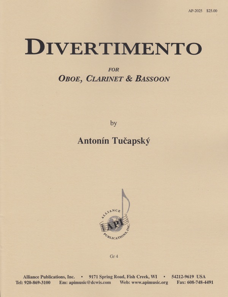 Divertimento for Oboe, Clarinet, Bassoon