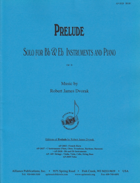 Prelude for Bb and Eb Instrument and Piano