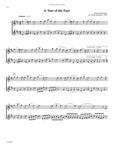 Christmas Duets for Flutes