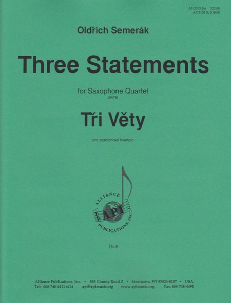 Three Movements for Sax Quartet