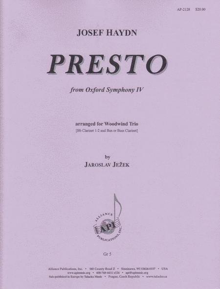 Presto from Oxford Symphony, Movement 4