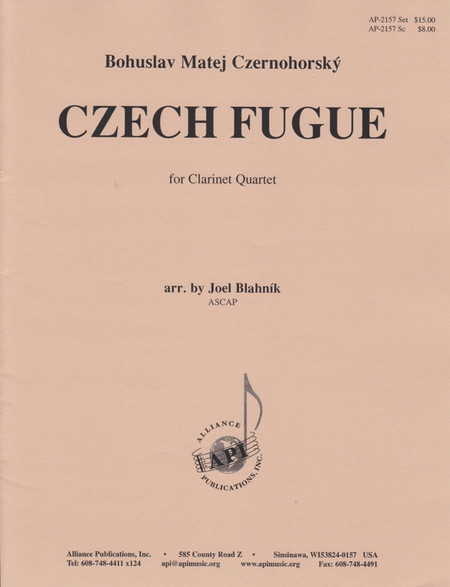 Czech Fugue for Clarinet Quartet