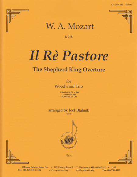 Il Re Pastore K 208
