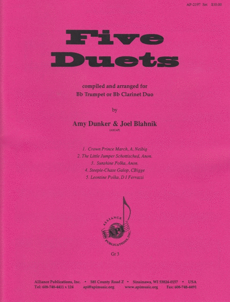 Five Duets for Bb Instrument
